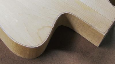 guitar body contour with rough edge photo