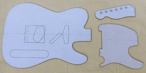 strat neck template - make a guitar template
