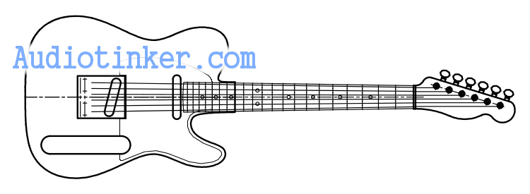 Mini telecaster CAD sketch