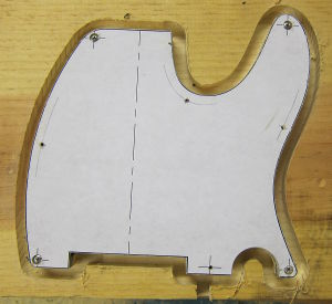 pickguard contour routed photo