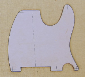 scratch plate aka pickguard template photo