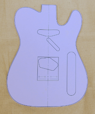 Telecaster Body Guitar Template Photo