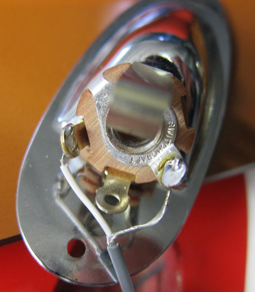 1/4-inch jack plate soldered in place image