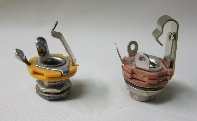 import 1/4-inch output jack compared with Switchcraft image