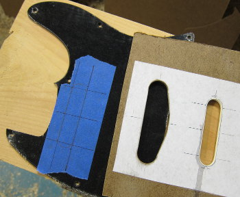 scratch plate with pickup routing template photo