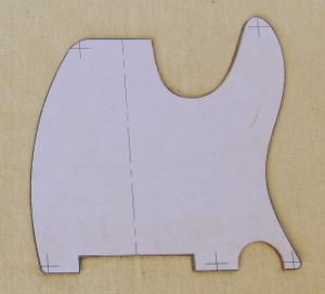 scratch plate aka pickguard template photo