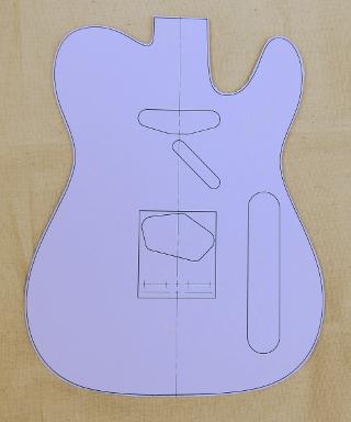 telecaster body guitar template photo